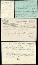RAILWAY 1899-1911 RECEIPT + MEMOS...LNWR