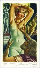 Kirnitskiy Sergey 2016 Exlibris C4 Mythology Pygmalion & Galatea Erotic Nude 235