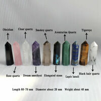 60-70MM Natural Quartz Crystal Point Healing Obelisk Hexagonal Wand Reiki Stone