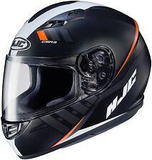 HJC CS-R3 CSR3 SPACE Full Face Motorcycle Helmet Black / Orange Size MEDIUM