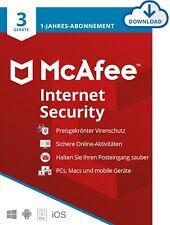 McAfee Internet Security - 3 Geräte - Laufzeit 1 Jahr - ESD - KEY - Download