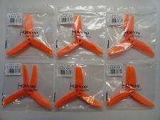 HQ Prop Orange 5X4X3 5040 3 Blade 6 CW 6 CCW Quadcopter Propellers - 12 Props