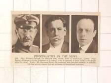 1920 German Poet Richard Dehmel Señor Battle Y Ordonez Uruguay