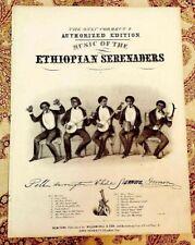 1847~Antique Black Americana Sheet Music~The Ethiopian Serenaders~Litho w Banjos