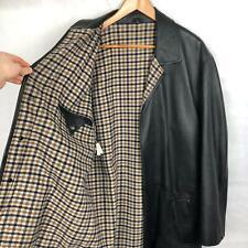 Aquascutum Mens Leather Jacket Black Size XXL 2XL Good Condition