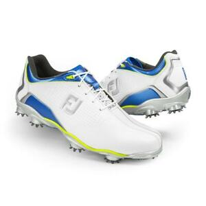 NEW! FootJoy [10] Medium DNA Men's Golf Shoes-White/Lime 53342