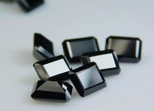 AAA+ Beautiful Top Quality Emerald Cut Black Spinel Gemstones 6x8mm 5 Pcs Lot