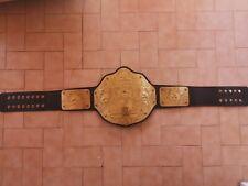 belt big gold world heavyweight championship leather metal 4mm WWE wrestling WCW