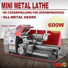 600W Mini Metal Turning Lathe Woodworking Tool Metalworking Milling Drilling