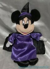 "Rare Disney Toy Factory Plush Soft 10"" Halloween Witch Minnie Mouse w/Sewn Eyes"
