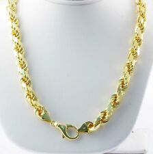 """Cut Rope Chain Necklace 8.00mm 30"""" 183.40gm 14k Solid Yellow Gold Men's Diamond"""