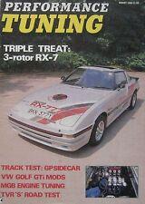 Performance Tuning 08/1988 TVR S, Mazda RX-7, Ferrari 328GTS, Fiat Strada Abarth