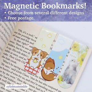 Magnetic Bookmark Cute Stationary for School Office Work Design Book