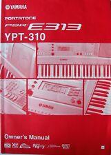 Yamaha PSR-E313 YPT-310 Portatone Digital Keyboard Original Owner's Manual Book