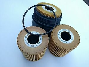 Volvo OEM Oil Filter set of 3 (1275810),1 Filter Housing (127580) + 3 O-Rings _