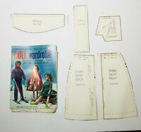 Vtg 60s Sewing Pattern Book Coats & Clark's Doll Wardrobe 1964 Barbie Doll C
