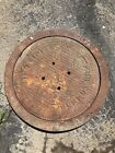 Racine Wisconsin Cast Iron Coal Chute Cover Antique Or manhole lid P Chalmers