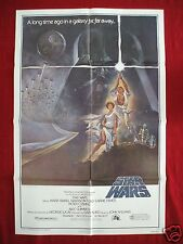 STAR WARS * 1977 ORIGINAL MOVIE POSTER STYLE A AUTHENTIC OBI-WAN HALLOWEEN NM-M