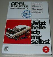 Reparaturanleitung Opel Kadett Kadett B August 1965 - Juli 1973 Buch NEU!