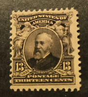 US SCOTT 308 Mint NH, 13 Cent Harrison Issue