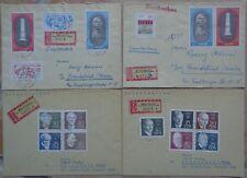 Allemagne de l'Est, RDA, DDR, lot de 37 enveloppes surtout recommandées