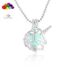 Pendants Love unicorn Mini Necklace Lockets Perfume Essential Oil Aromatherapy