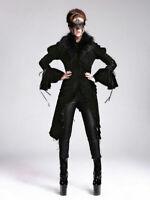 New Women Retro Goth Steampunk Rock Black Cloak Coat Jacket Victoria Aristocrat