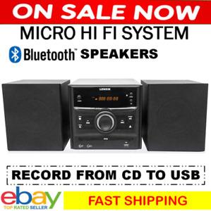 Home Stereo Mini Hi Fi System Bluetooth CD Player USB DVD Compact Audio Sound