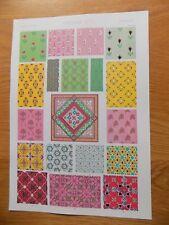 Original Book Print Grammar of Ornament Owen Jones 13x9 Inch Persian 1