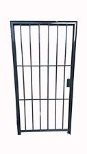 Steel SECURITY Door /Gate  2mtr x 1mtr Powder Coated Grey FULL ANGLE IRON FRAME