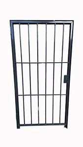 Steel SECURITY Door /Gate  2000mm x 1000 mm - Powder Coated Grey