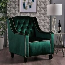 Milan Two Tone TUFTED Emerald New Velvet Club Chair ArmChair