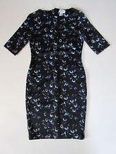 NWT CARMEN Carmen Marc Valvo Floral Print Scuba Sheath Pencil Dress XS $98