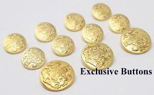 Gold Metal Blazer Buttons Set - Lion & Unicorn