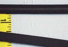 "Lingerie Bra Strap Elastic with gripper Silicone Strip 3/8"" Black 5 yds #SE153"