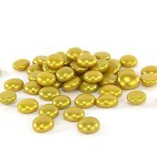 1 LB Gold Glass Pebbles, Flat Bottom Gem Stones Marbles Vase Fillers 100 PCS