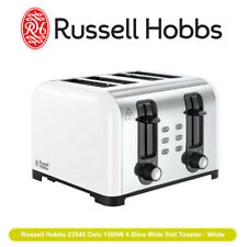 NEW Russell Hobbs 23545 Oslo 1500W 4 Slice Wide Slot Toaster - White