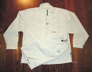 Reebok Warmup Suit Windbreaker Pants (L) & Jacket (XL) Vintage 90s Street Wear