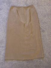 "Designer Tom Bowker Size 10 Taupe Silk SKIRT 29"" Lined Versatile Day Evening"