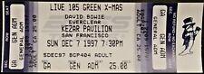 ** DAVID BOWIE ** & EVERCLEAR - 1997 SAN FRANCISCO FULL & UNUSED CONCERT TICKET