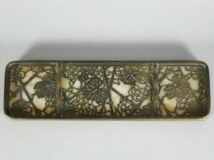 Tiffany Studios Grapevine Bronze #1004 Pen Tray