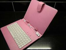 """Pink MINI B USB Keyboard PU Leather Carry Case/Stand  for 8"""" Android Tablet PC"""