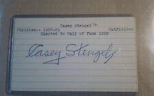 Casey Stengel Auto YANKEES Mets