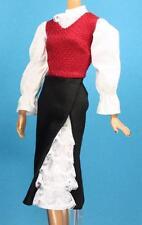 Pink Label Barbie DOTW Chile Red Black White Lace Ruffles  Huaso Dress