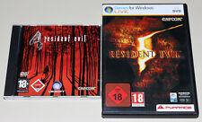 2 PC games set-Resident Evil 4 & 5-FSK 18