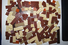 Lego - 185 BROWN flat PLATES Bricks / Blocks MIX - House / Castle (d1) GENUINE