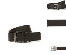 b6b23ac7d6ef Lacoste Leather Belt Embossed Logo Ceinture Brown Size 85 Buckle Belts R