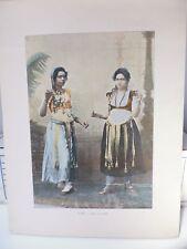 Egypte : Gravure 19° in folio couleur / Danse du ventre