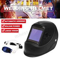 Pro Solar Power Auto Darkening 4 Sensors Welding Helmet Arc Tig Mig Welder
