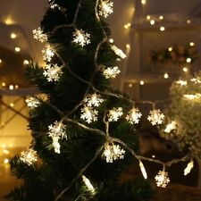 Snowflake LED Light Christmas Tree Decoration Home Garland Wreath Ornament decor